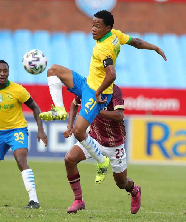 Sphelele Mkhulise of Mamelodi Sundowns during the Nedbank Cup, Last 32 match between Mamelodi Sundowns and Stellenbosch FC at Loftus Versfeld Stadium on February 03, 2021 in Pretoria, South Africa.