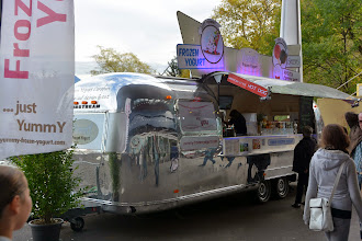 Photo: Airstream and hot dogs at the fair that was in town
