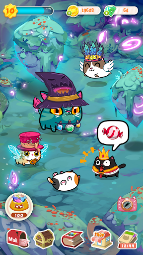 Fancy Cats - Cute cats dress up and match 3 puzzle androidiapk screenshots 1