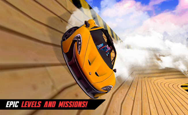 Car driving extreme stunts sim - screenshot