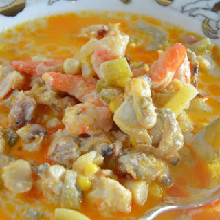 Lobster Seafood Chowder.