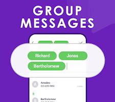 screenshot of Quick SMS Launcher: Emoji, Customize Chat