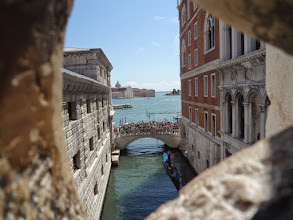 Photo: View from the Bridge of Sighs