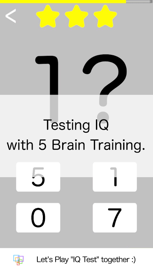 IQ Test- screenshot