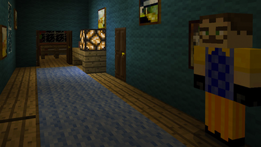 Horror Hi Neighbor Maps Craft For MCPE - screenshot