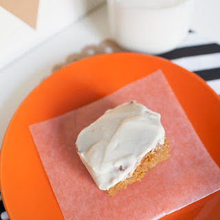 Pumpkin Sheet Cake & Maple Cream Cheese Frosting