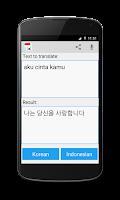 Screenshot of Indonesian Korean Translator
