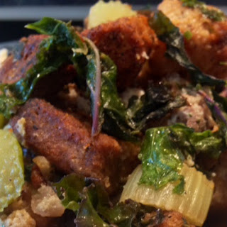 Crouton Sausage and Kale Stuffing