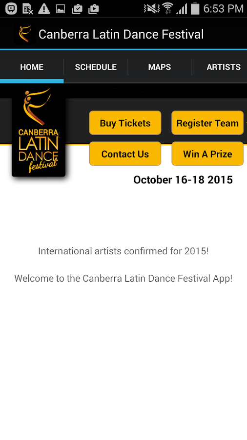 Canberra Latin Dance Festival- screenshot