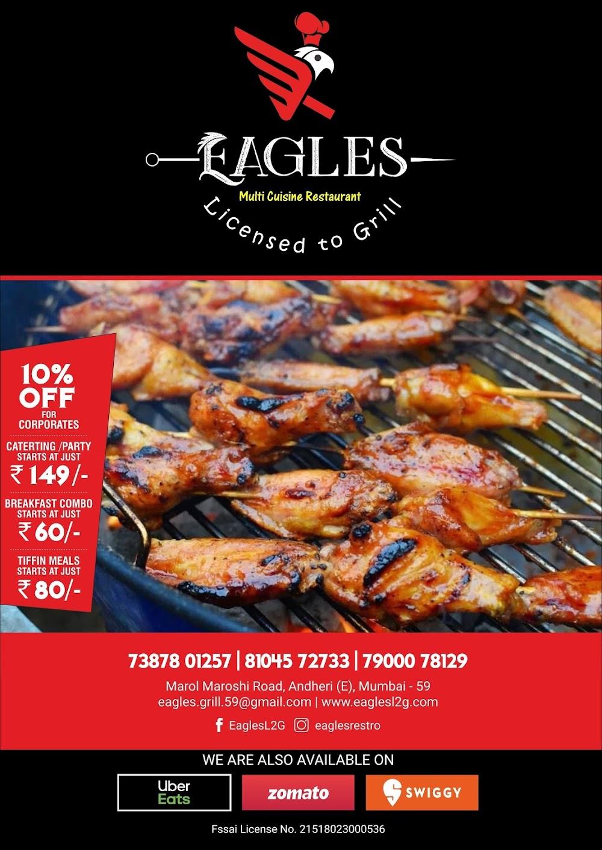 Eagles  menu 1