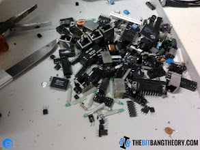 Photo: Scavenged components