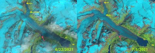 Tulsequah Glacier, BC  2021 Glacier Lake Outburst Flood