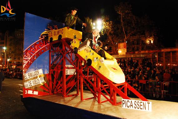 """3º Premio: Falla Duc de Gaeta-Pobla de Farnals. Lema:""""El simulador...¡De vuelos!"""""""