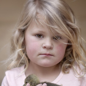 Gosling by Chrismari Van Der Westhuizen - Babies & Children Child Portraits ( child, pets, children, kids, geese, portrait, kids portrait )