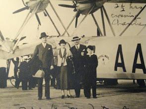 Photo: Ralph Webb Gardner, Fay Webb Gardner, Governor Gardner and O. Max Gardner, Jr. London to Paris 1937