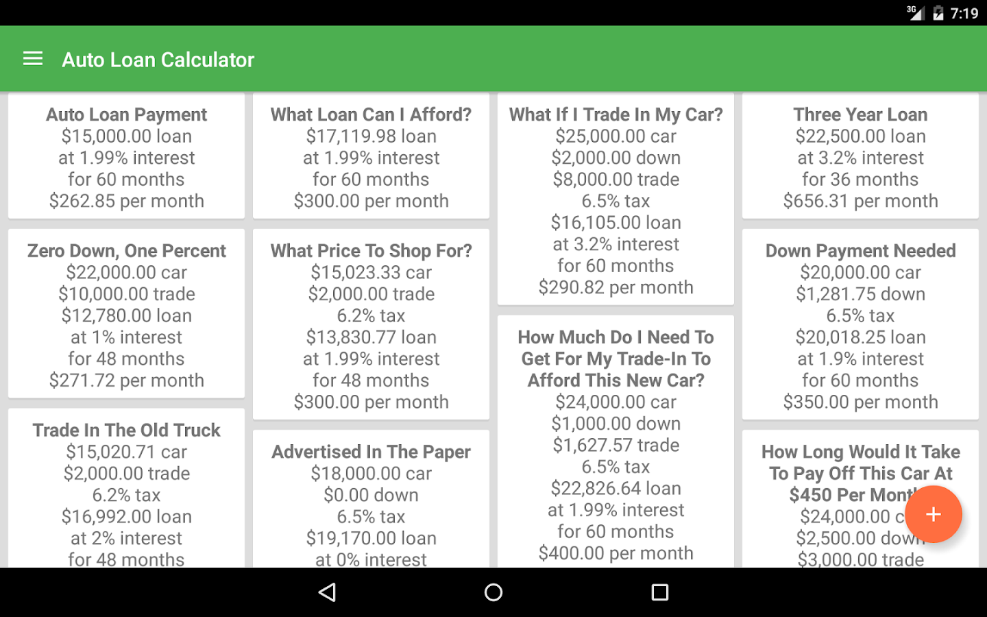 auto loan calculator android apps on google play. Black Bedroom Furniture Sets. Home Design Ideas