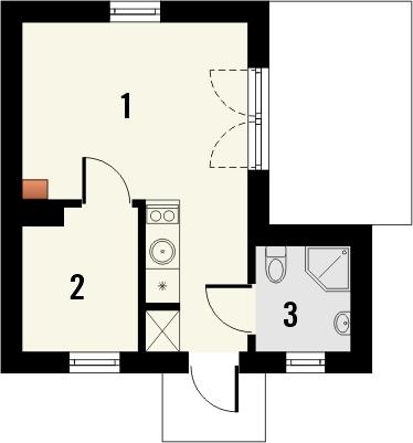 Domek 9 - Rzut parteru