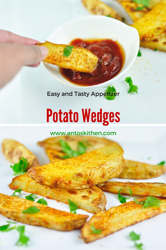 Baked potato wedges easy finger food antos kitchen potato wedges forumfinder Images