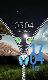 Free Download Buttefly Zipper Lock APK for Android