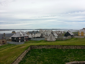 Photo: Fortress at Louisbourg dwellings.
