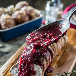 Cranberry Pork Tenderloin.