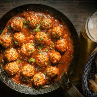 Homemade Spicy Italian Meatballs.