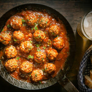 Homemade Spicy Italian Meatballs.