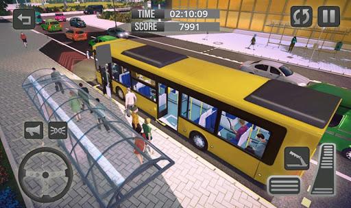 Télécharger Gratuit City Bus Driver Game 3D : Tourist Bus Games 2019 APK MOD (Astuce) screenshots 2
