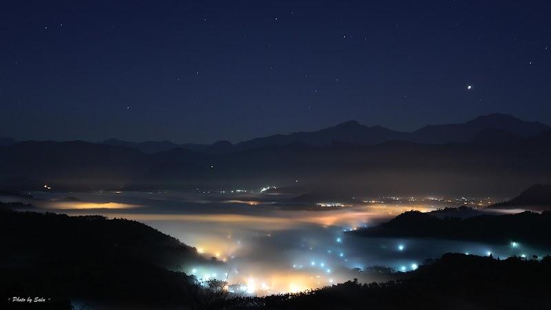 金龍山 雲海 夜琉璃