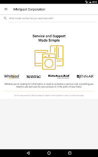 customer service by whirlpool apps on google play. Black Bedroom Furniture Sets. Home Design Ideas