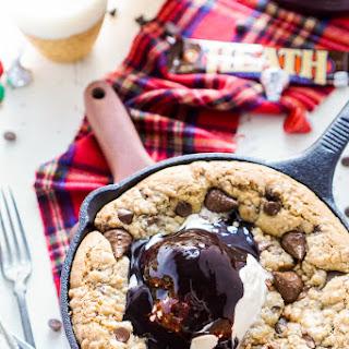 Chocolate Toffee Skillet Cookie