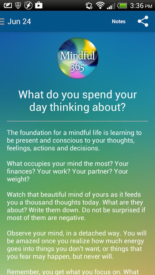 Mindful365- screenshot