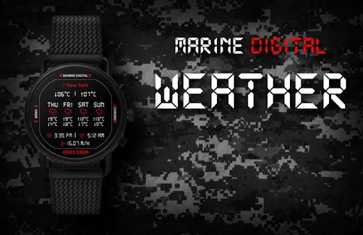 Marine Digital 2 Watch Face & Clock Live Wallpaper 1.07 screenshots 5