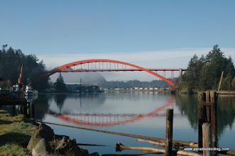 Photo: La Conner bridge, Puget Sound
