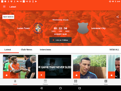 Luton Town Official App- screenshot thumbnail