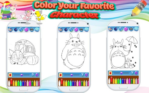 Coloring Book For Totoro