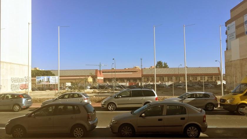 Solar de la Sareb situado en la Avenida de Montserrat, 48, donde el Banco Malo tiene previsto construir  117 viviendas.
