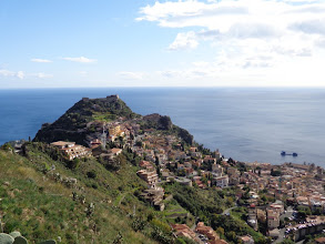 Photo: Looking down on Monte Tauro from Castelmole