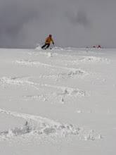Photo: Adam with first tracks on Bonnevie's Drag