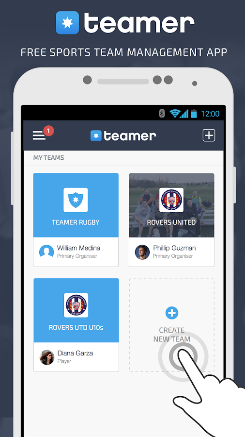 Teamer - Sports Team App- screenshot