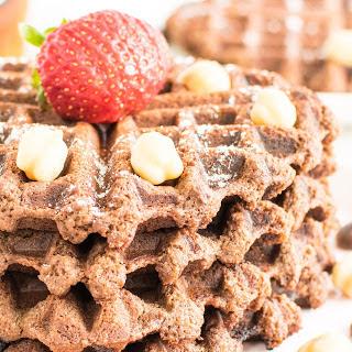 Flourless Chocolate Chickpea Waffles [Vegan, Gluten-Free]