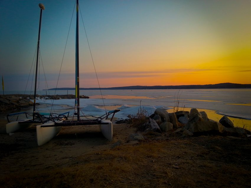 Sunrise at beach harbor. by Jerry Sjödin - Instagram & Mobile Android