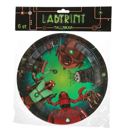 Labyrint Tallrikar 6st