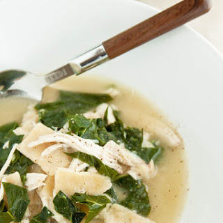 Chicken 'n Dumplings with Collard Greens Confetti