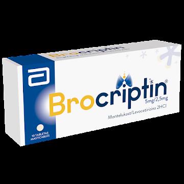 Brocriptin Abbott   Montelukast 5Mg Levocetrizina 2.5Mg 2HCI Caja x 10Tab
