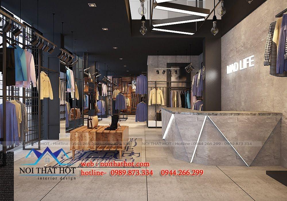 thiết kế shop thời trang nam H2T 2
