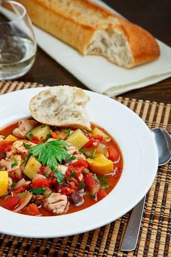"""Fish and Zucchini Puttanesca Stew """"t has been a while since I..."""