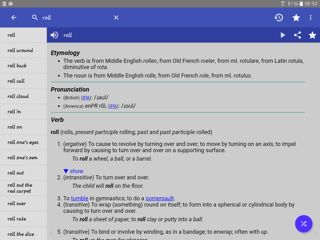 Screenshots of English Dictionary - Offline for iPhone