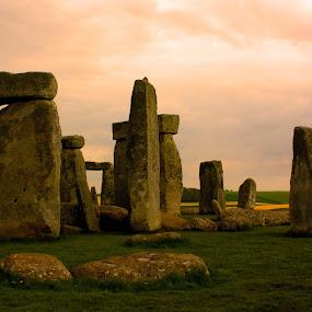 Stone Henge by Trippie Visser - Travel Locations Landmarks ( stone henge, landmark, old, grass, stones )