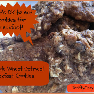 Whole Wheat Oatmeal Breakfast Cookies